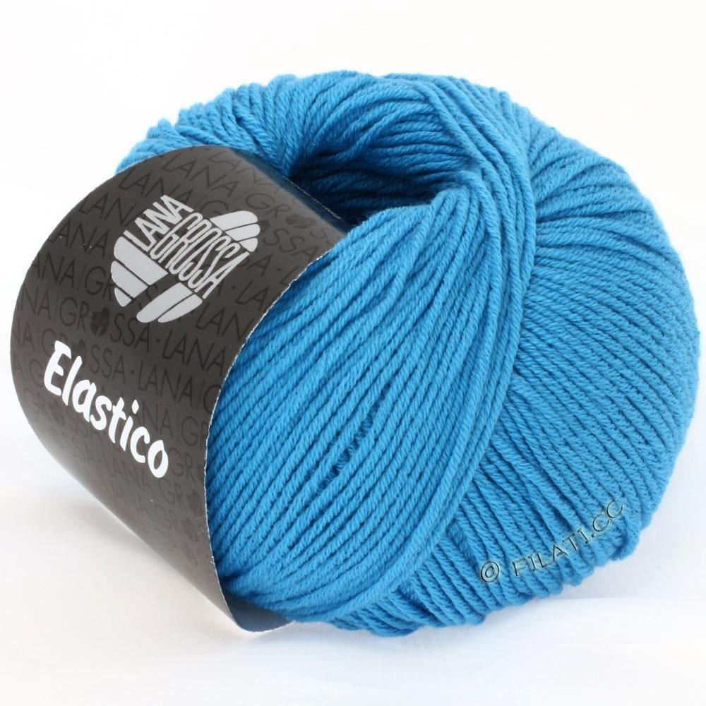 Lana Grossa ELASTICO Uni/Print | 115-azurblå