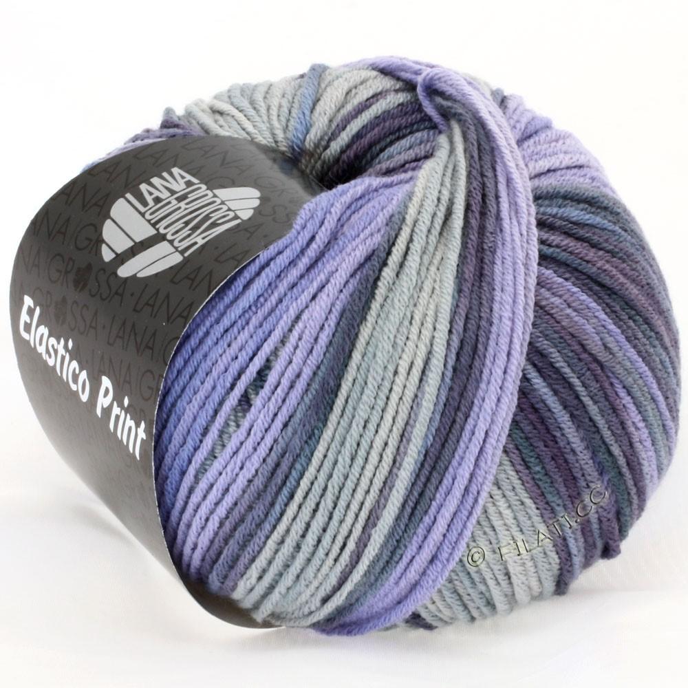 Lana Grossa ELASTICO  Uni/Print | 504-purpur/grå violet/røgblå/lysegrå
