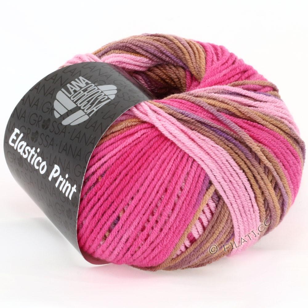 Lana Grossa ELASTICO Uni/Print | 507-rosa/pink/cognac/violet