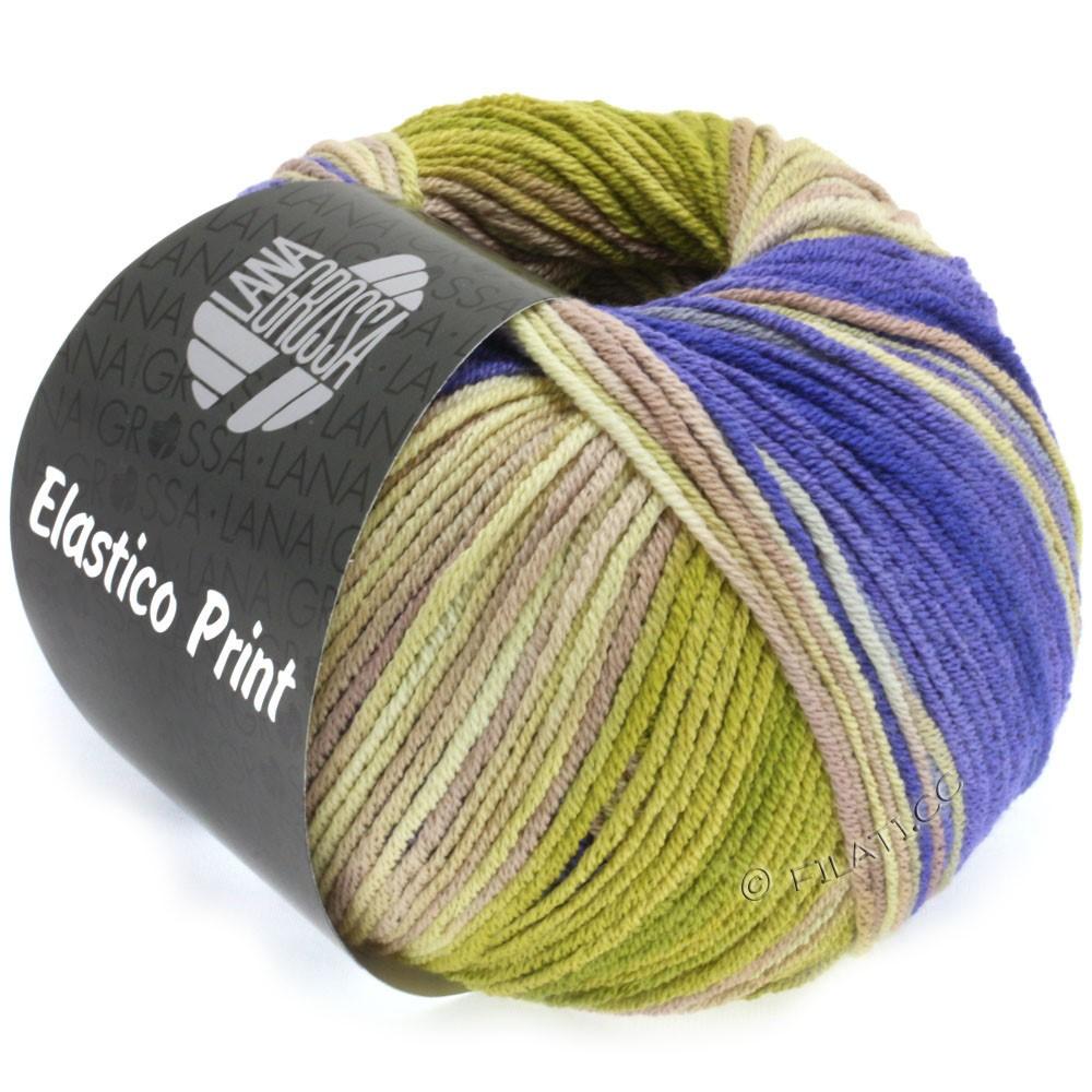 Lana Grossa ELASTICO  Uni/Print | 515-purpur/oliven/beige/grège/taupe