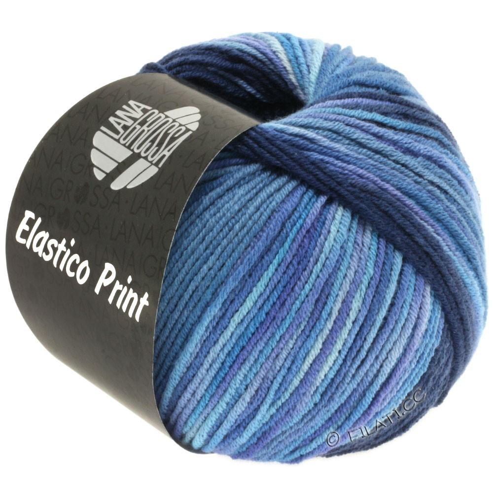 Lana Grossa ELASTICO  Uni/Print | 520-natblå/jeans/blå violet/lilla