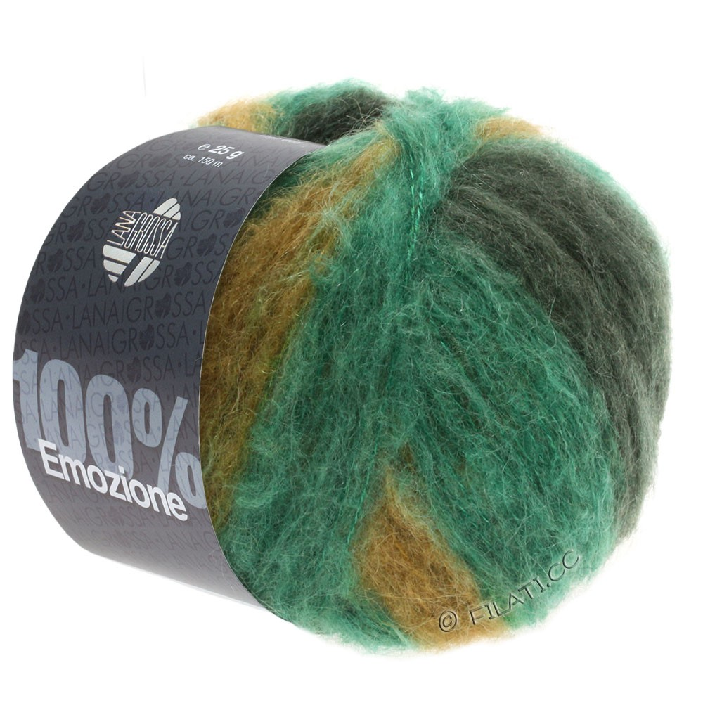 Lana Grossa EMOZIONE Degradé | 103-smaragd/sortgrøn/oliven