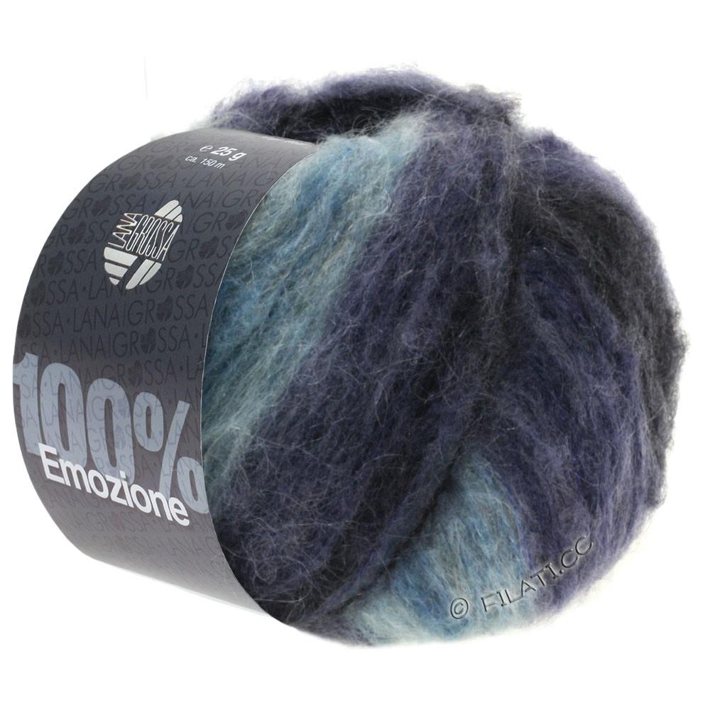 Lana Grossa EMOZIONE Degradé | 105-lyseblå/blå violet/antracit