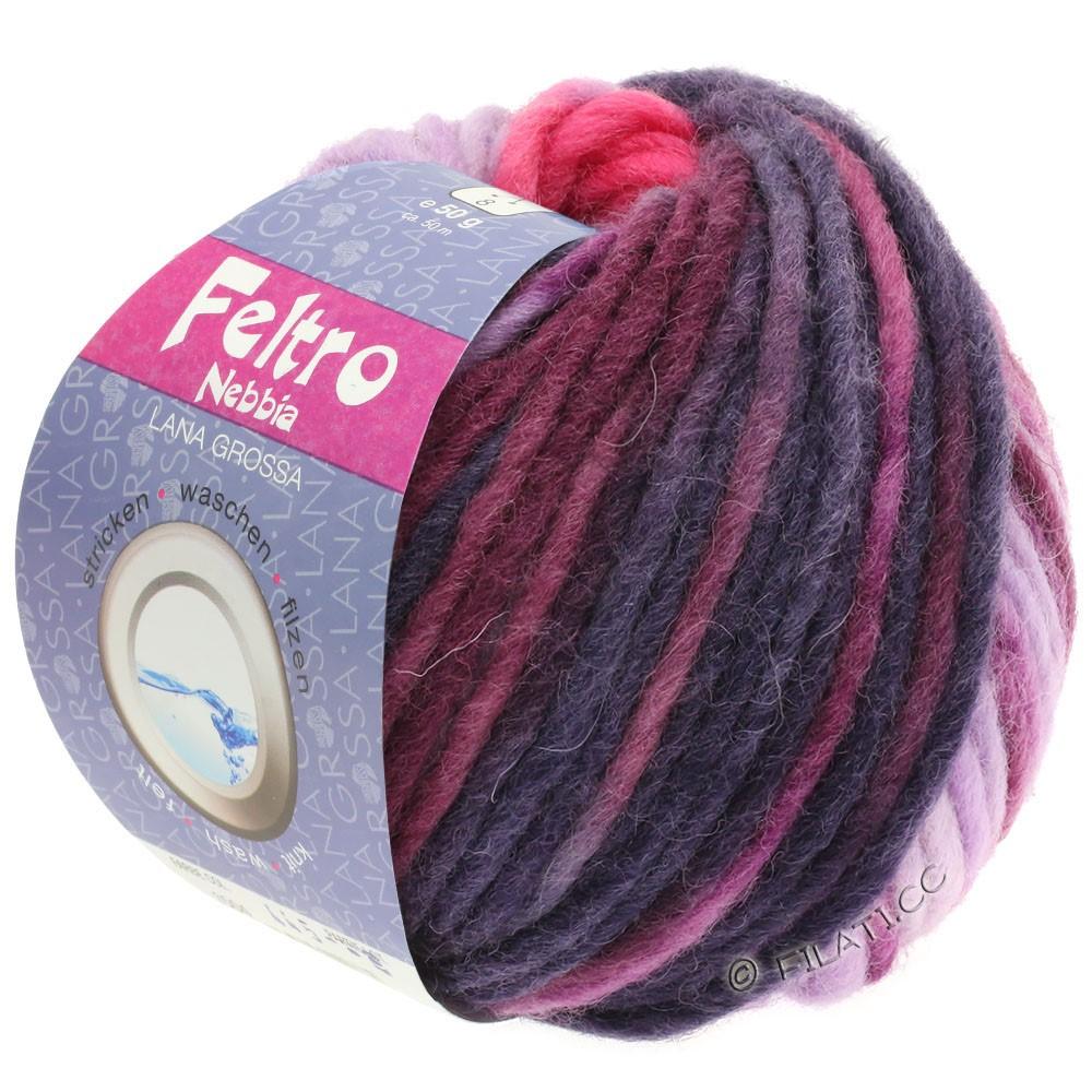 Lana Grossa FELTRO Nebbia | 1502-pink/purpur/rødviolet/aubergine/jeans