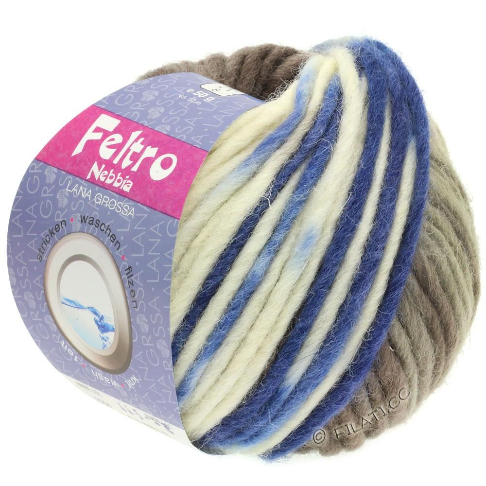 Lana Grossa FELTRO Nebbia | 1503-hvid/gråbrun/blå