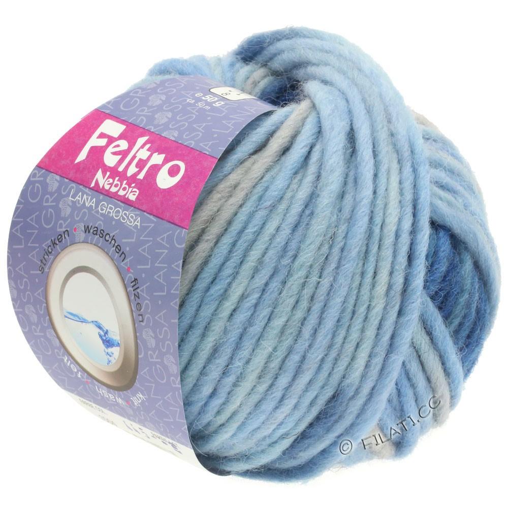 Lana Grossa FELTRO Nebbia | 1504-lyseblå/himmelblå/mørkeblå