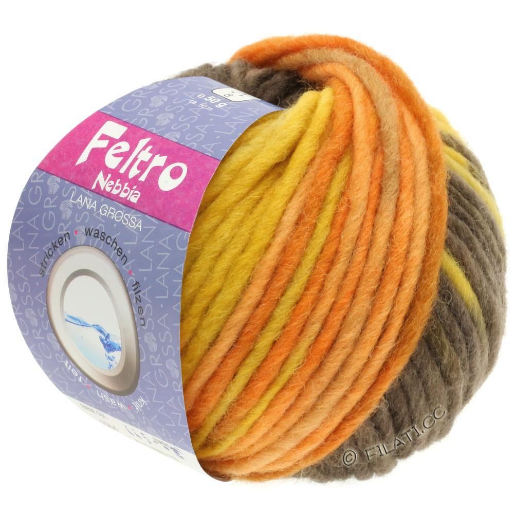 Lana Grossa FELTRO Nebbia | 1506-gyldengul/orange/mørkebrun