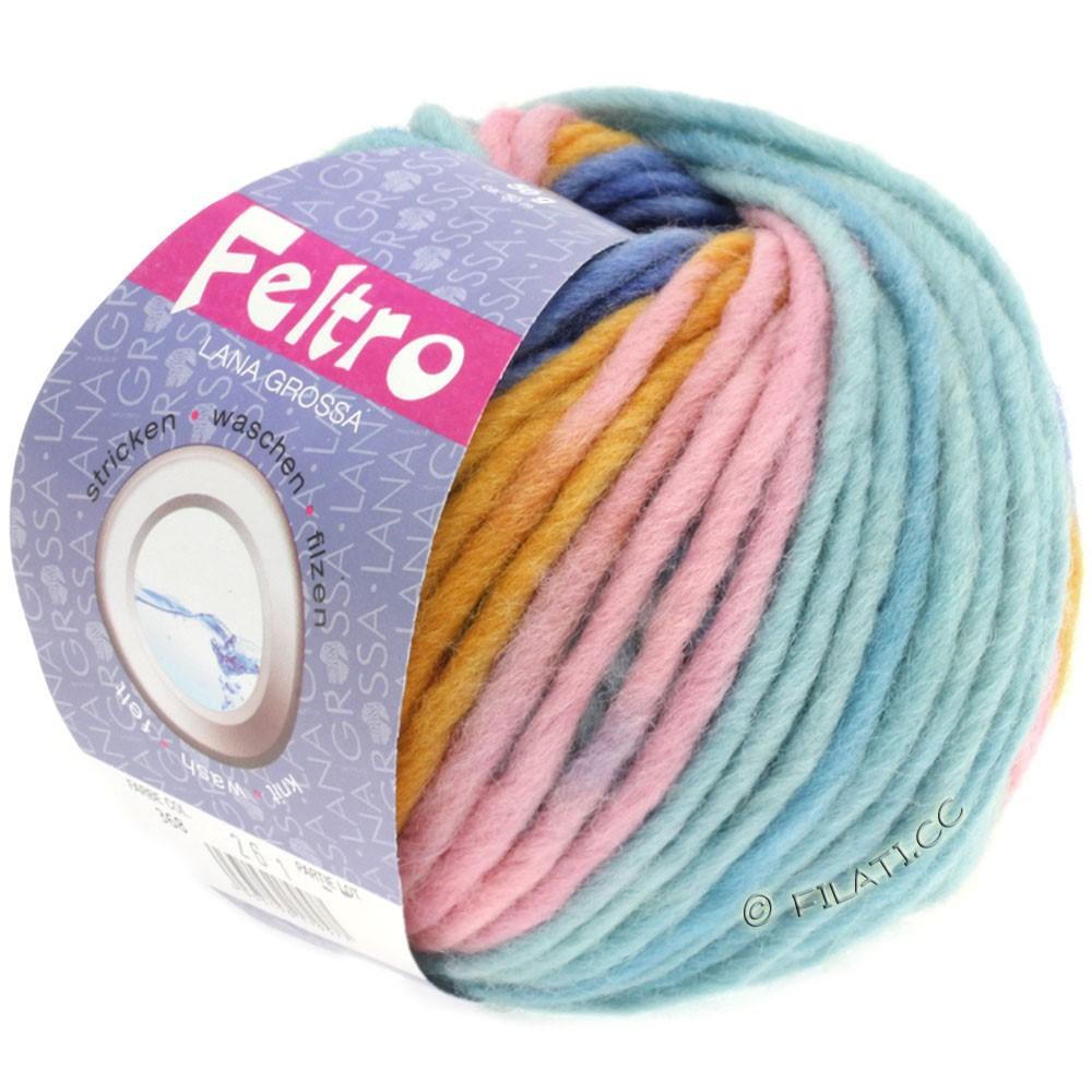 Lana Grossa FELTRO Print | 368-gyldengul/rosa/lyseblå