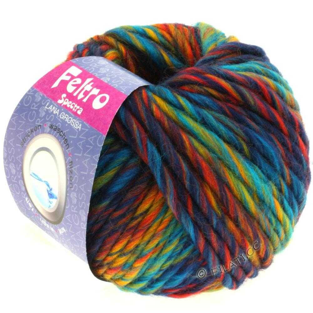 Lana Grossa FELTRO Spectra | 801-turkis/blå/gul/rød