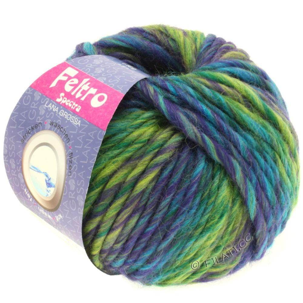 Lana Grossa FELTRO Spectra | 802-violet/gulgrøn/petrol/turkis