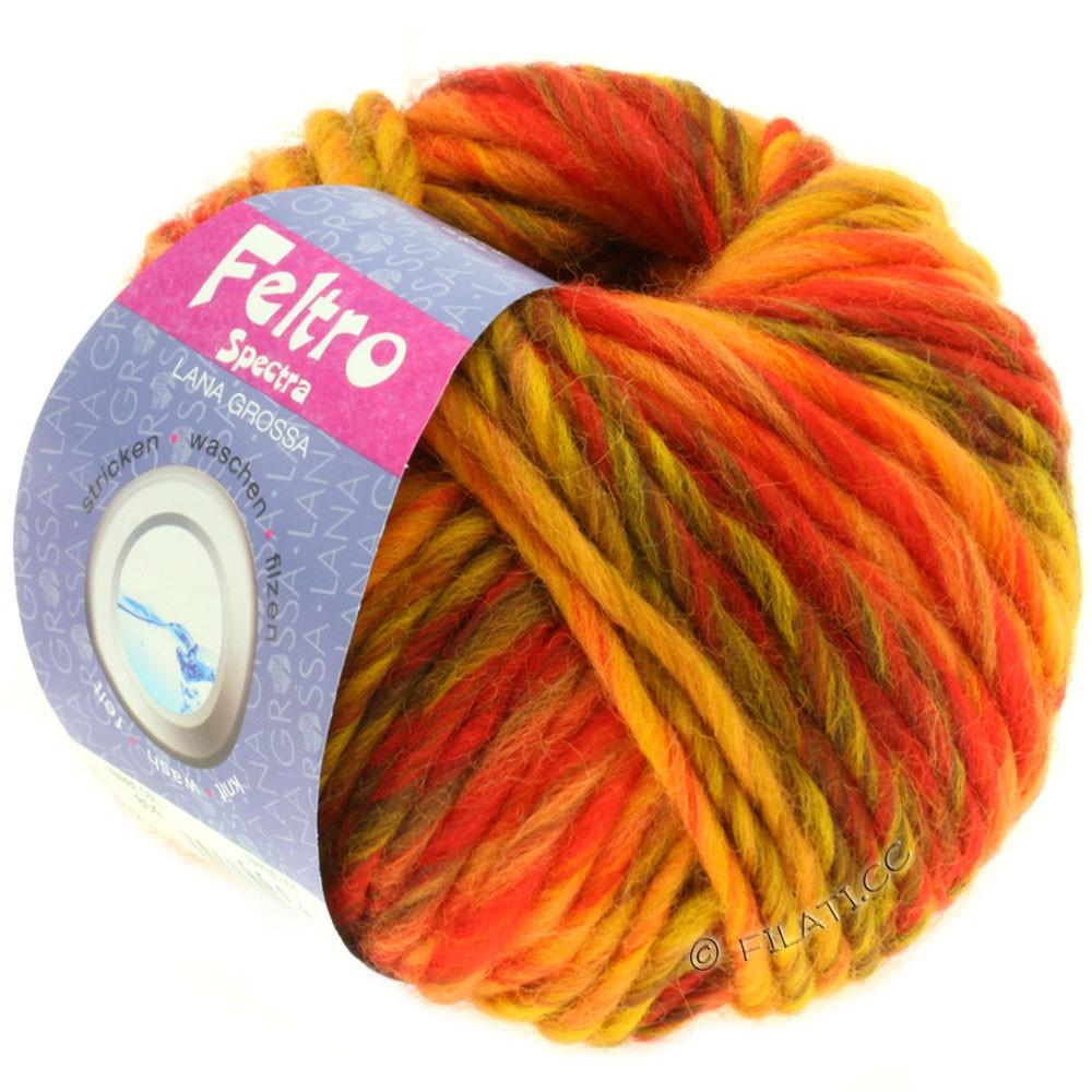 Lana Grossa FELTRO Spectra | 804-gul/kobber/brun/rød/orange