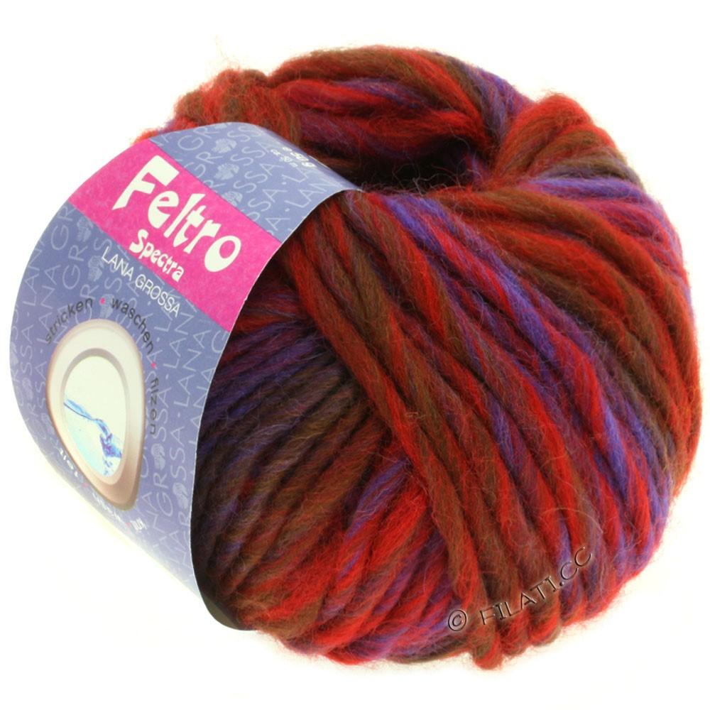 Lana Grossa FELTRO Spectra | 806-rød/blå/violet/chokoladebrun