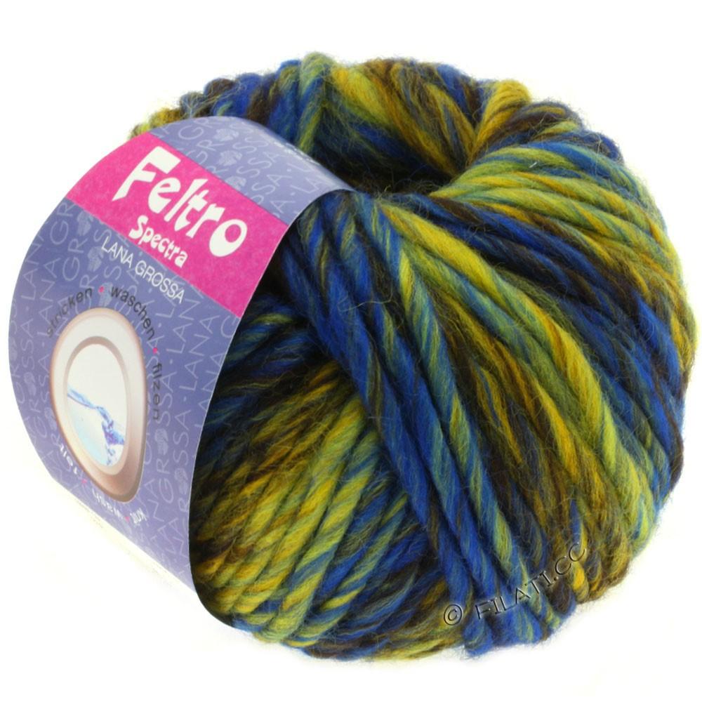 Lana Grossa FELTRO Spectra | 808-gul/blå/mokka