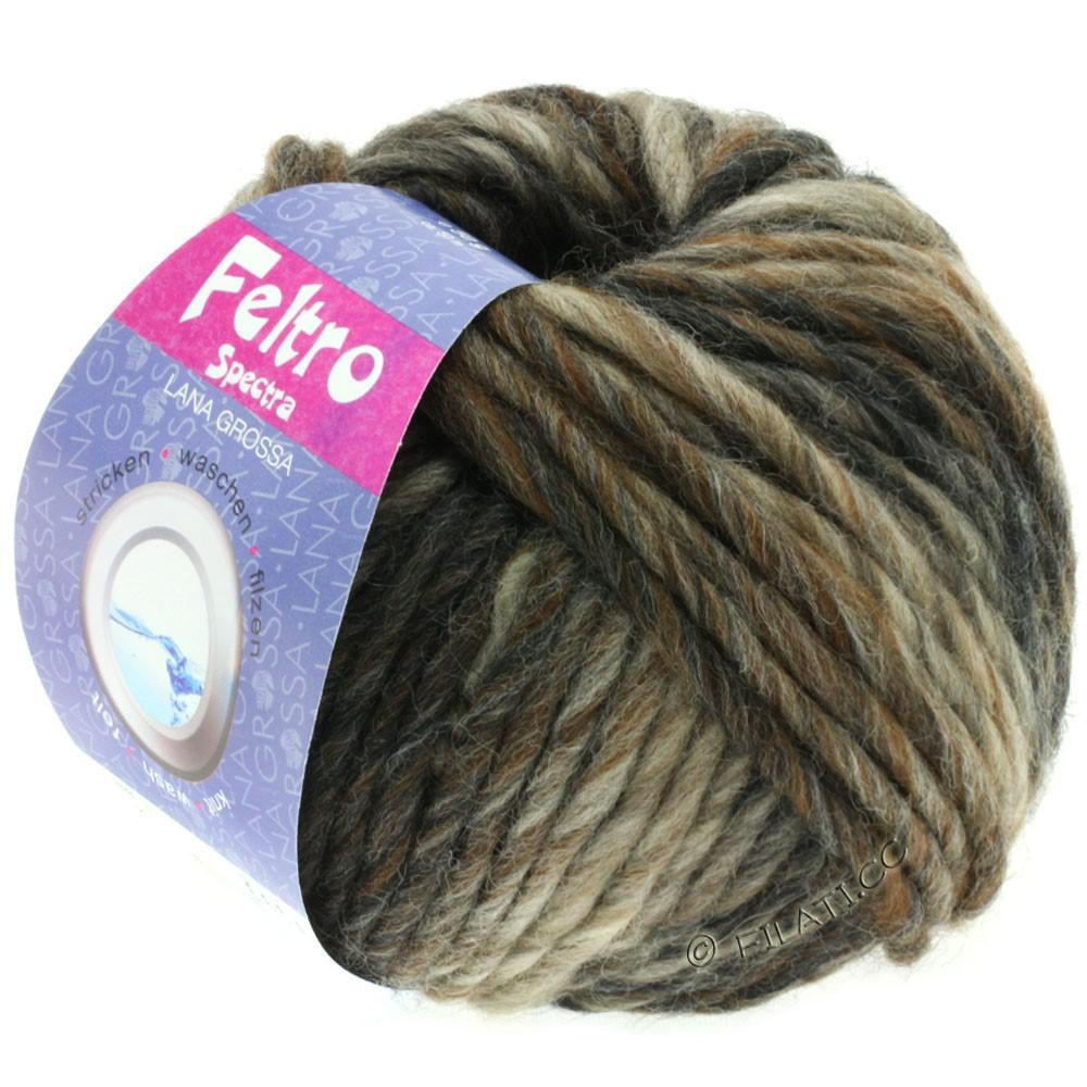 Lana Grossa FELTRO Spectra | 810-grège/taupe/chokoladebrun/antracit