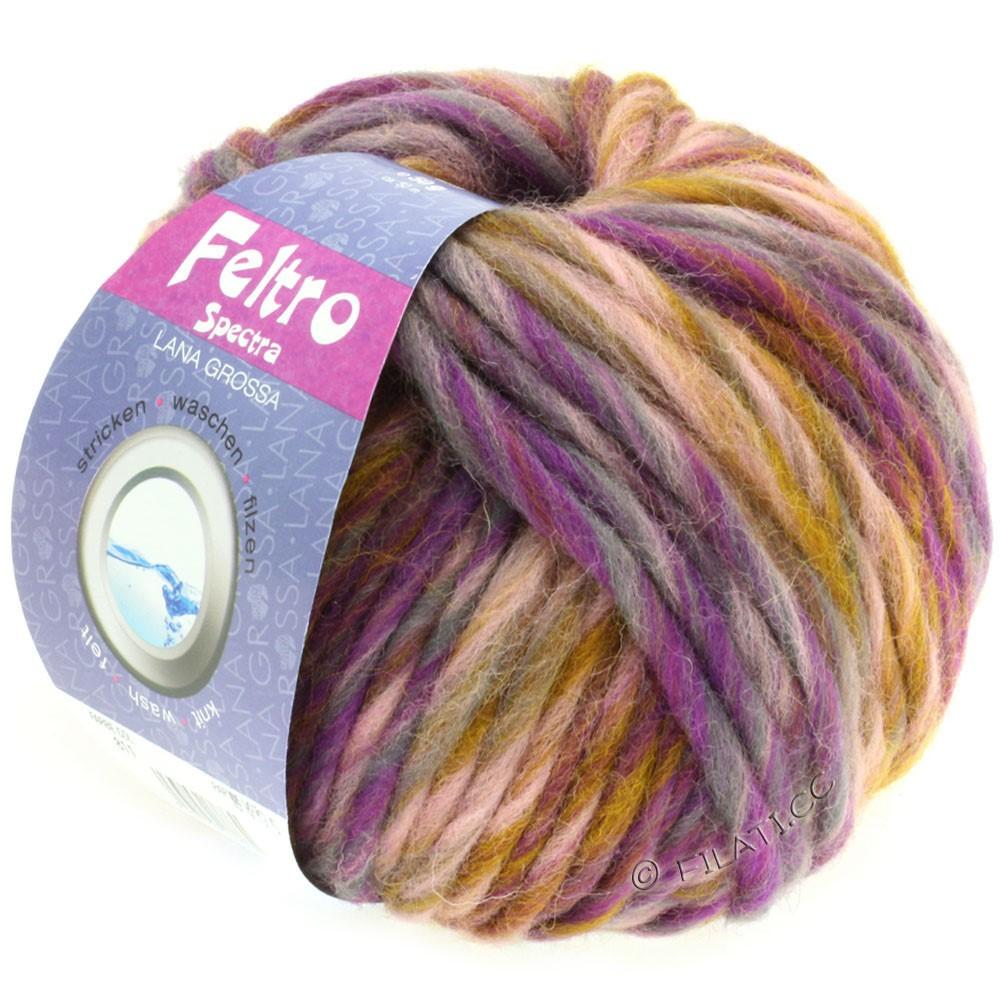 Lana Grossa FELTRO Spectra | 811-rosa/sennep/violet/grå