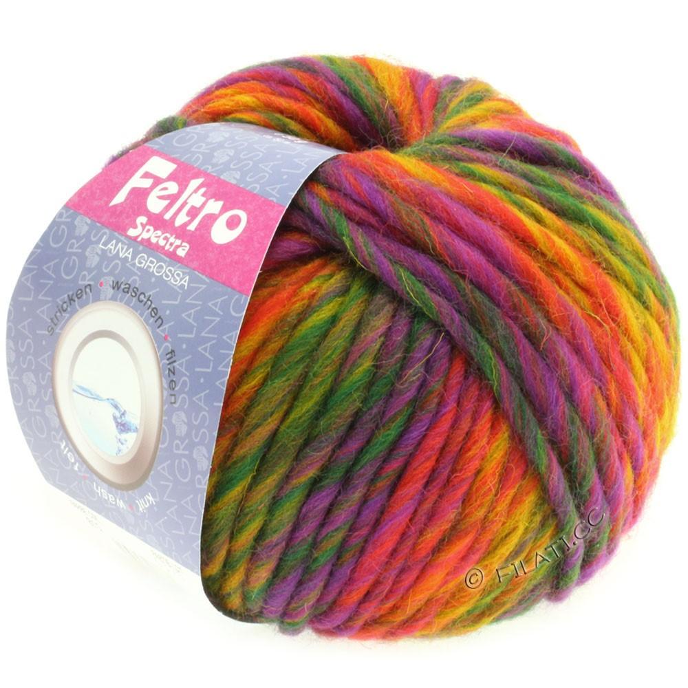 Lana Grossa FELTRO Spectra | 815-gul/orange/rød/violet/grøn