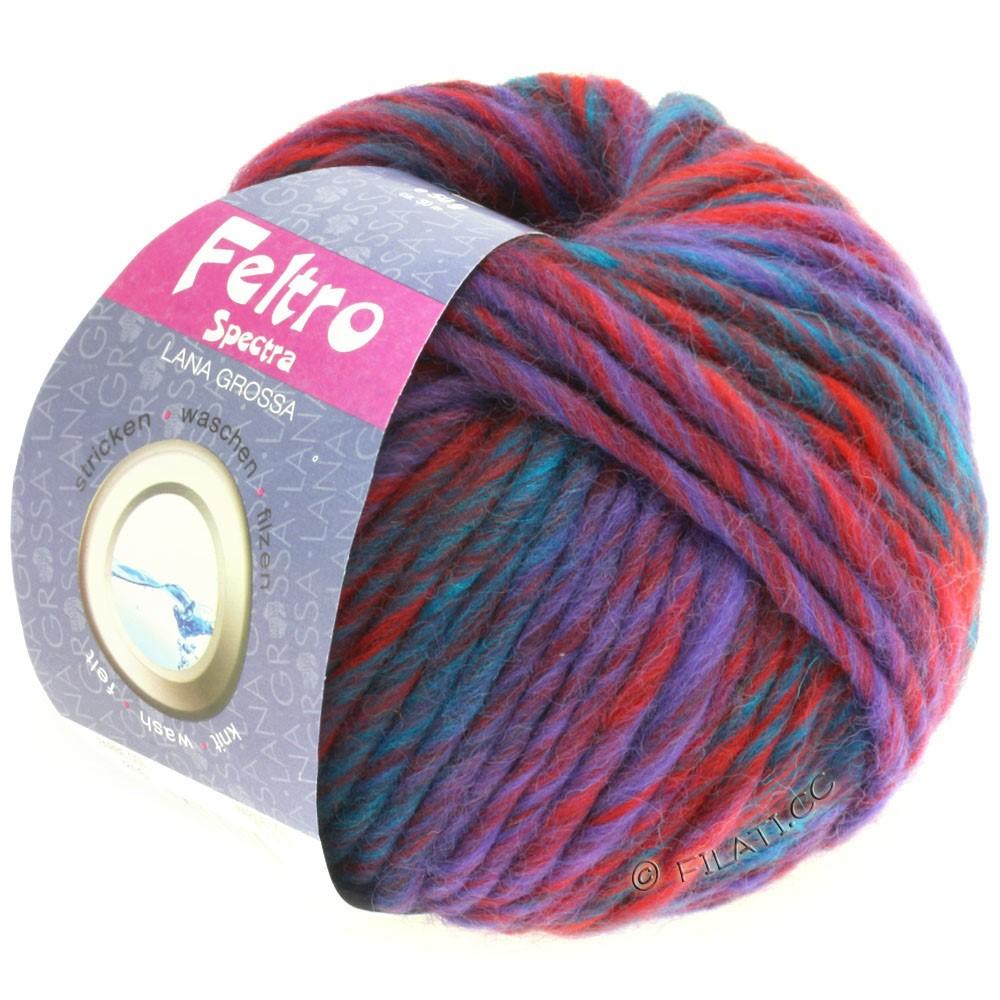 Lana Grossa FELTRO Spectra | 816-mørkerød/violet/petrol