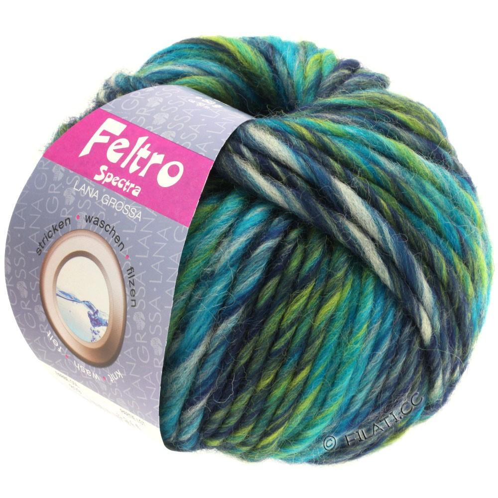 Lana Grossa FELTRO Spectra | 819-petrol/lysegrå/marine/gulgrøn