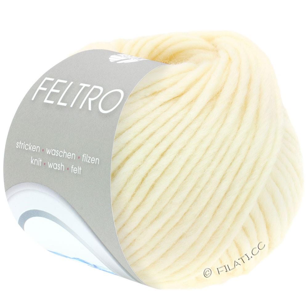 Lana Grossa FELTRO  Uni | 001-rå hvid