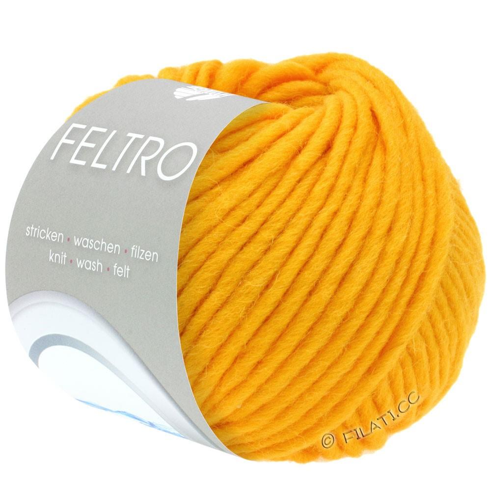 Lana Grossa FELTRO  Uni | 078-æggeblomme gul