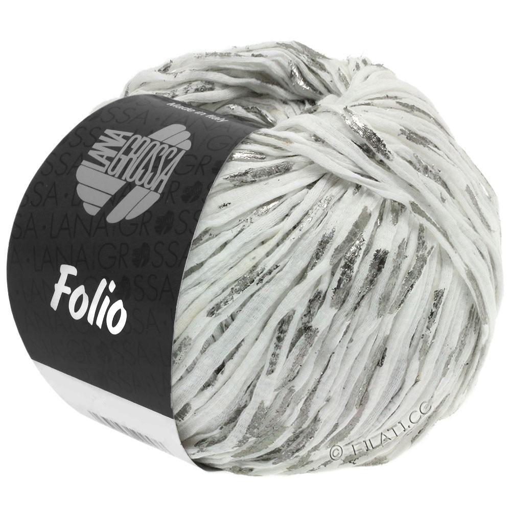 Lana Grossa FOLIO | 01-hvid/sølv