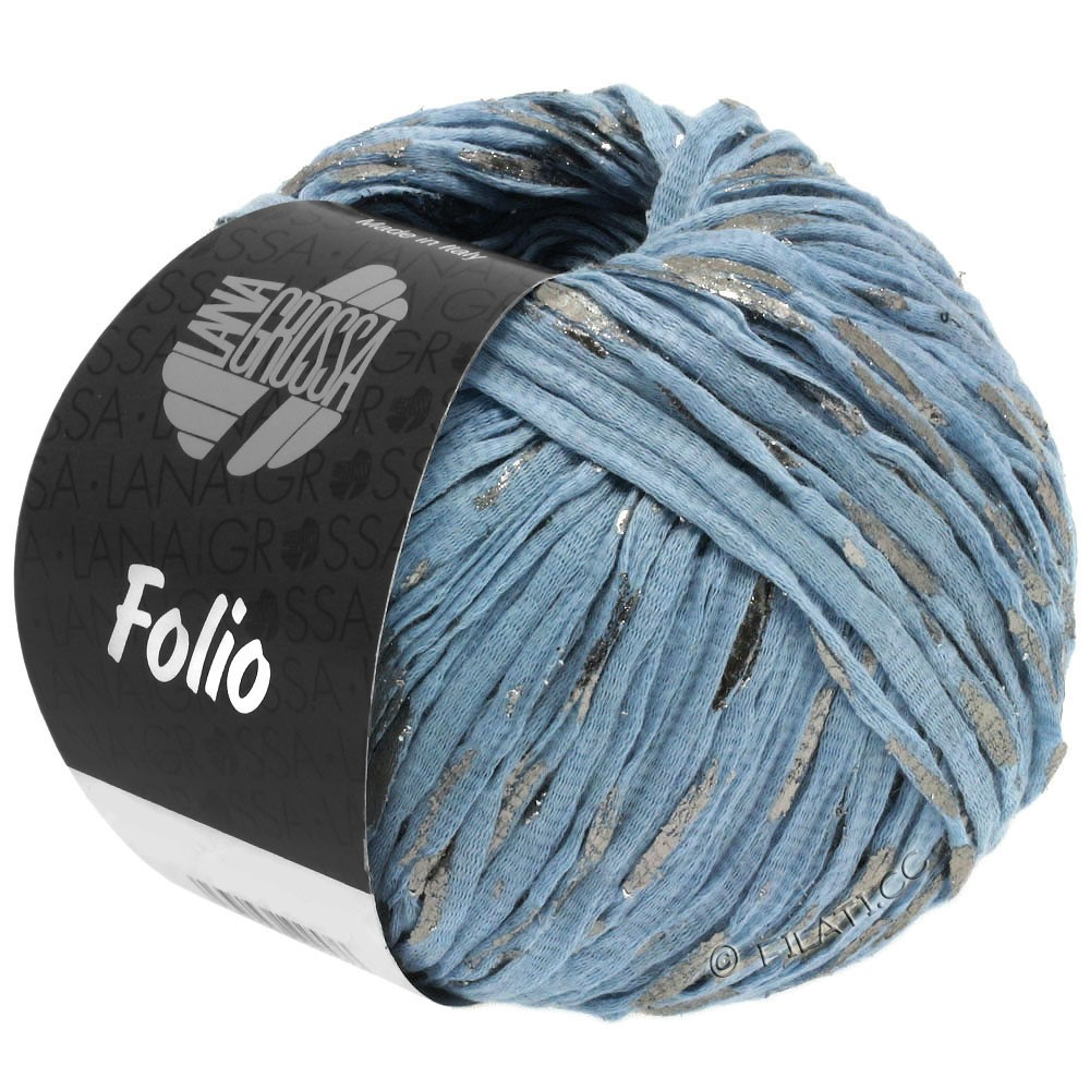 Lana Grossa FOLIO | 04-lyseblå/sølv