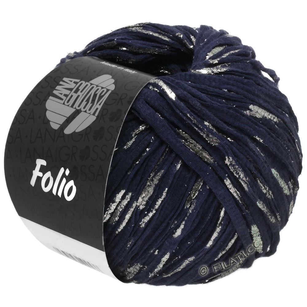 Lana Grossa FOLIO | 05-mørkeblå/sølv