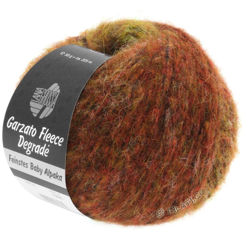 Lana Grossa GARZATO Fleece Uni/Print/Degradé | 314-gyldengul/orange/rød