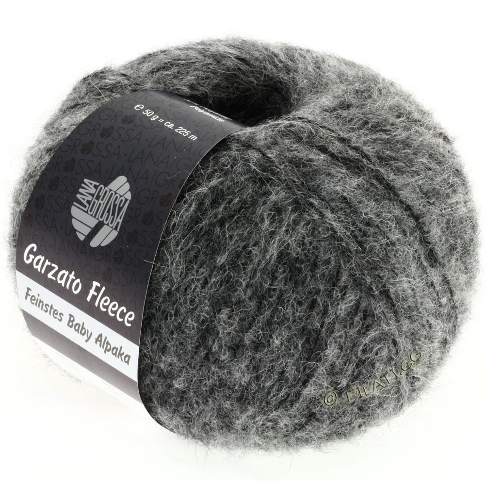 Lana Grossa GARZATO Fleece Uni/Print/Degradé | 010-grå /sort