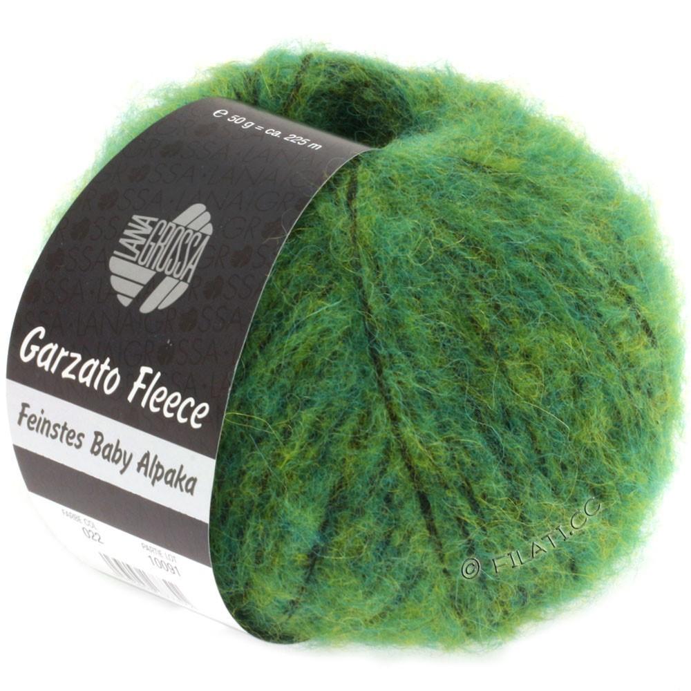 Lana Grossa GARZATO Fleece Uni/Print/Degradé | 022-grøn/gul/sort