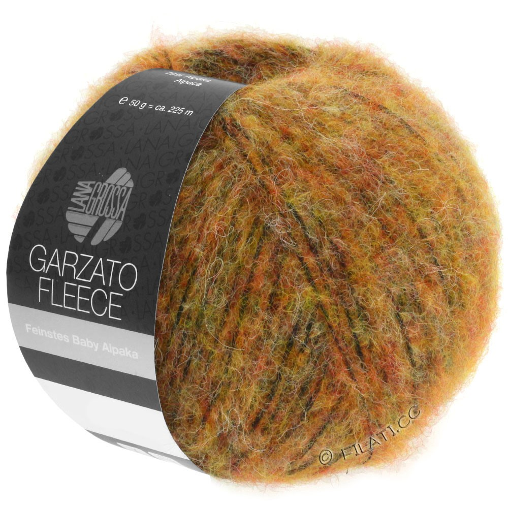 Lana Grossa GARZATO Fleece Uni/Print/Degradé | 029-gul/orange/sort