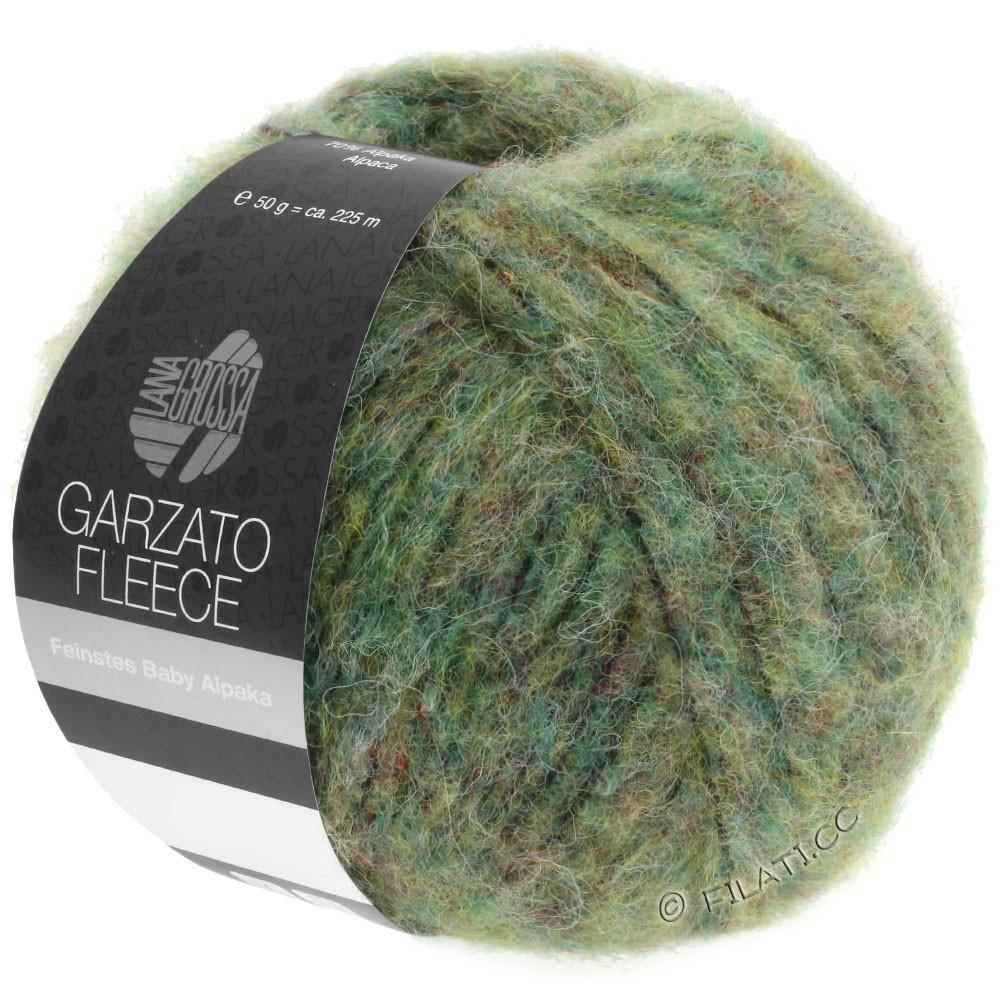 Lana Grossa GARZATO Fleece Uni/Print/Degradé | 030-lysegrøn/gulgrøn/sort
