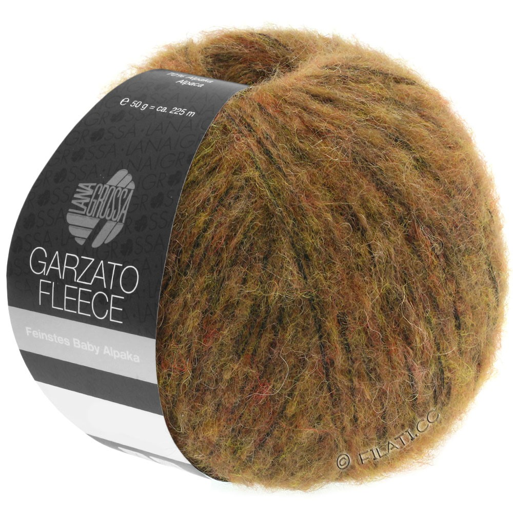 Lana Grossa GARZATO Fleece Uni/Print/Degradé | 031-lysebrun/okker/sort