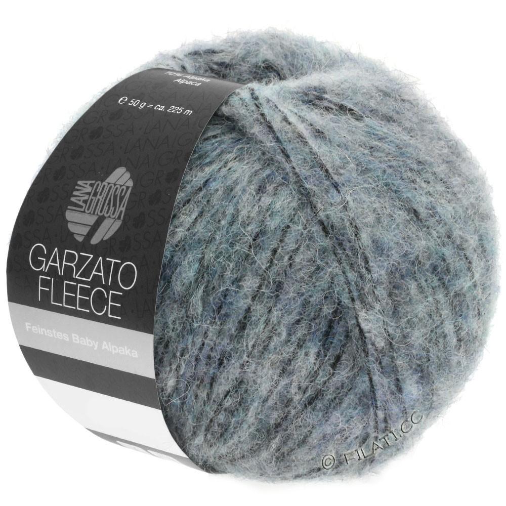 Lana Grossa GARZATO Fleece Uni/Print/Degradé | 032-lyseblå/sort