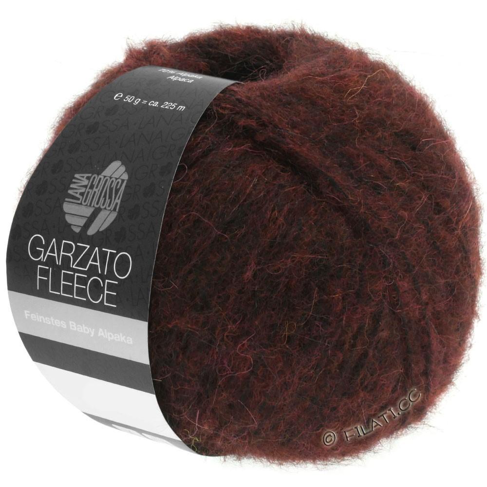 Lana Grossa GARZATO Fleece Uni/Print/Degradé | 034-burgund/sort