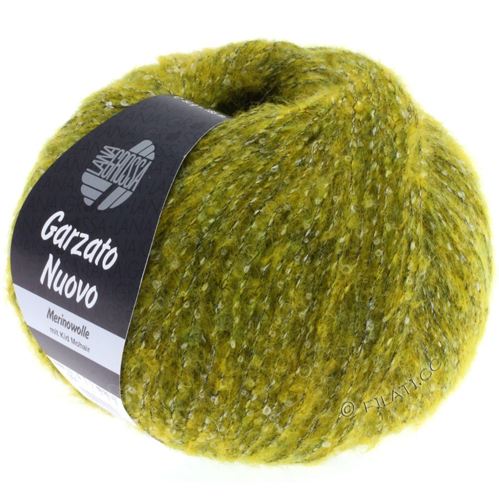 Lana Grossa GARZATO Nuovo | 001-gul/rå hvid/sort