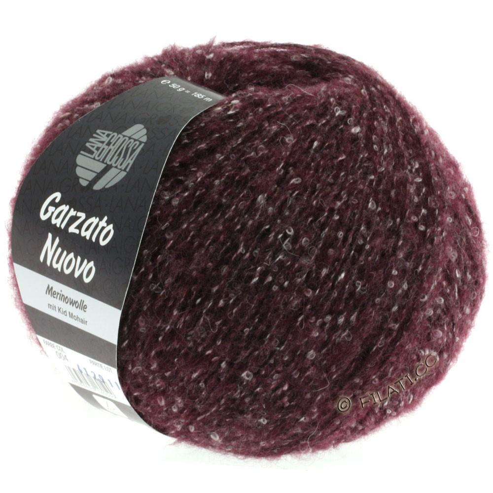 Lana Grossa GARZATO Nuovo | 004-brombær/rå hvid/sort