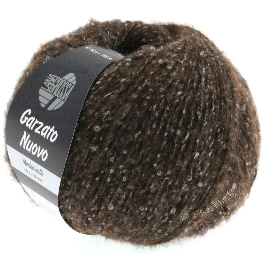 Lana Grossa GARZATO Nuovo | 005-mørkebrun/rå hvid/sort