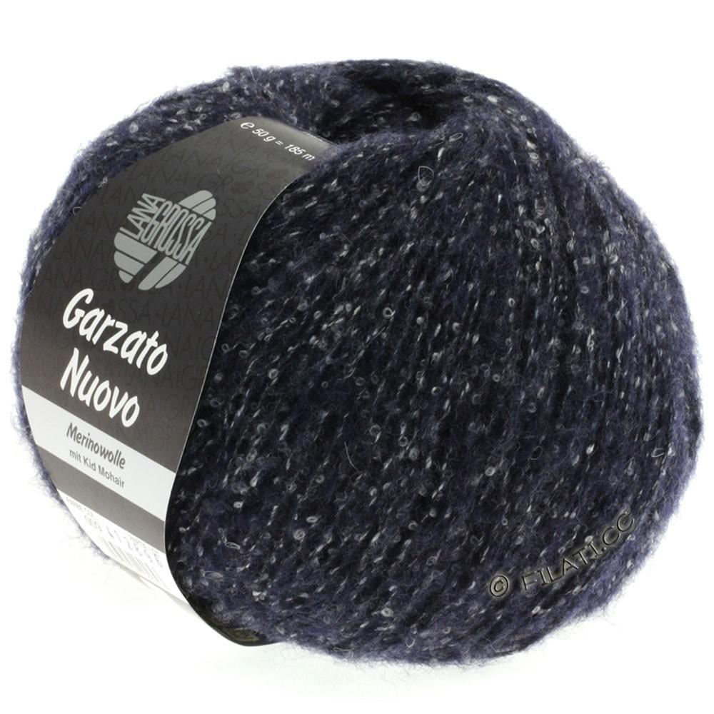 Lana Grossa GARZATO Nuovo | 009-natblå/rå hvid/sort