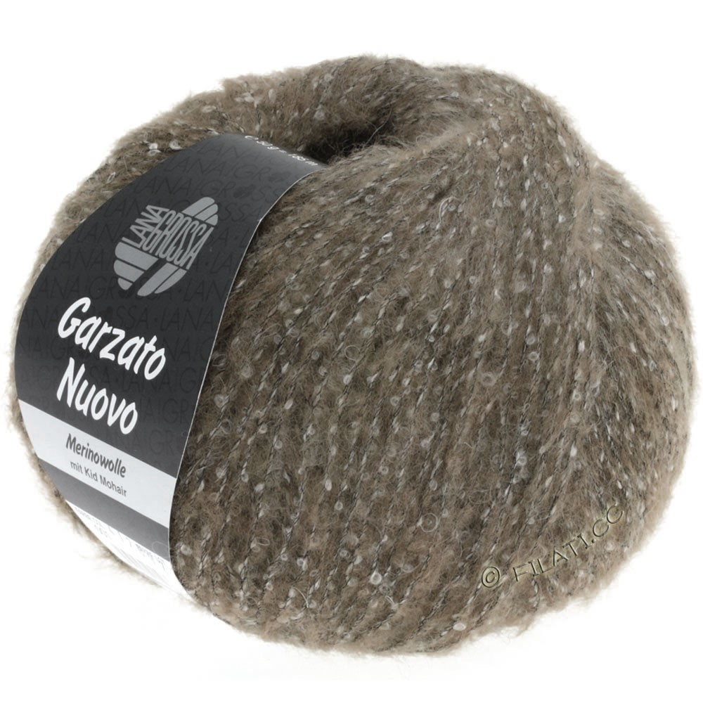 Lana Grossa GARZATO Nuovo | 016-brun/rå hvid/sort