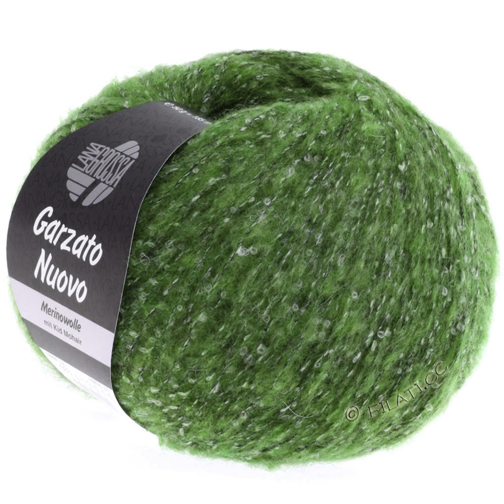 Lana Grossa GARZATO Nuovo | 018-grøn/rå hvid/sort