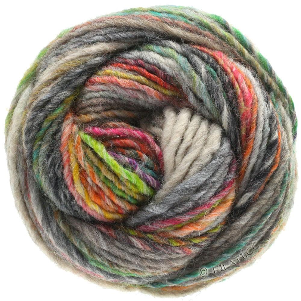 Lana Grossa GOMITOLO 100 | 103-grågrøn/lysegrå/grøngul/smaragd/orange/antracit