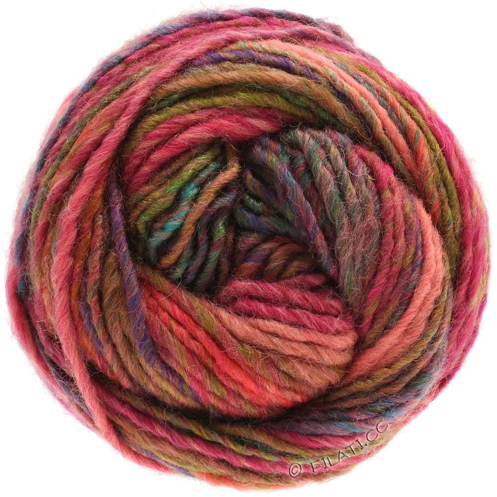 Lana Grossa GOMITOLO 100 | 106-lys rød/pink/kobber/violet/grøn