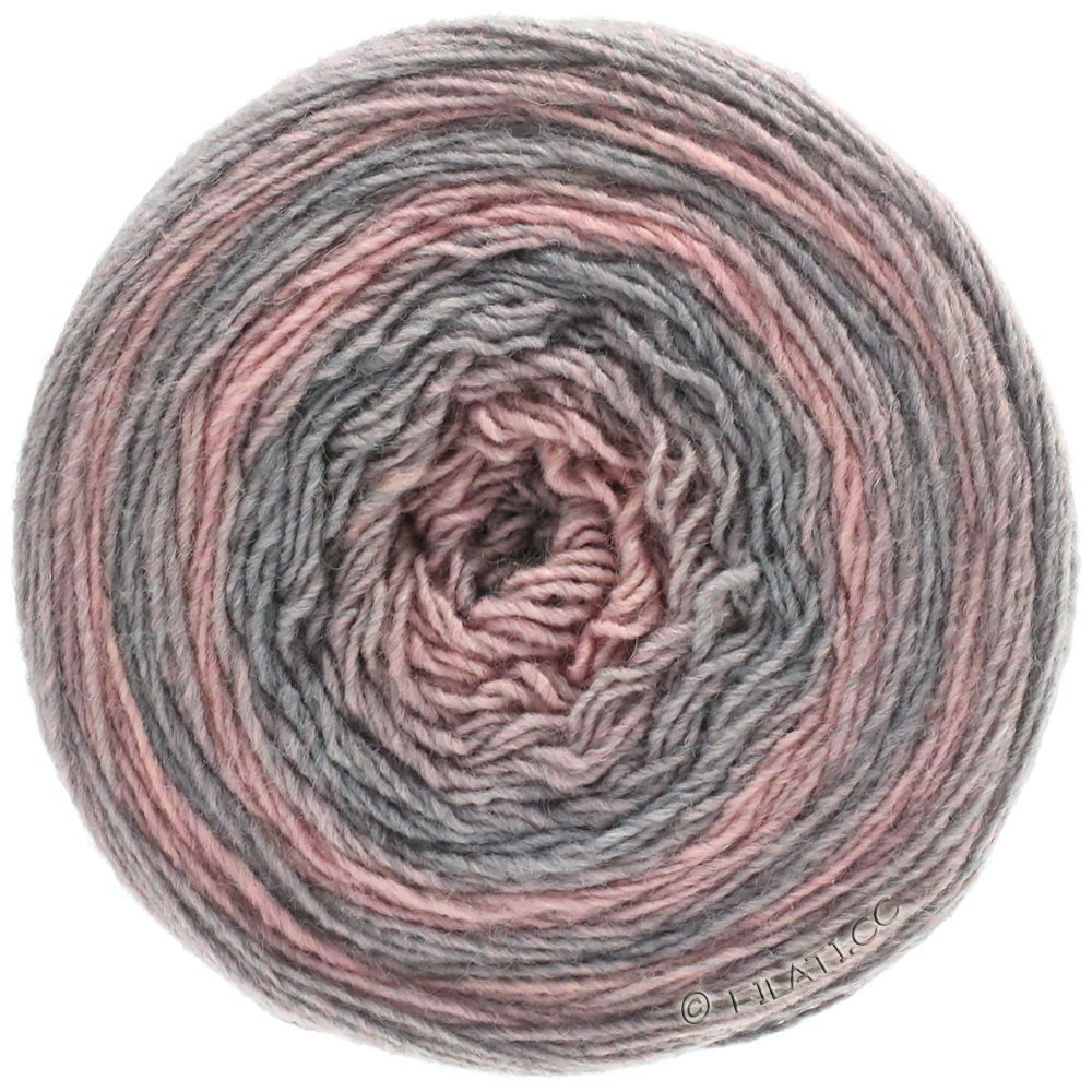 Lana Grossa GOMITOLO 200 Degradé | 303-lysegrå/rosa