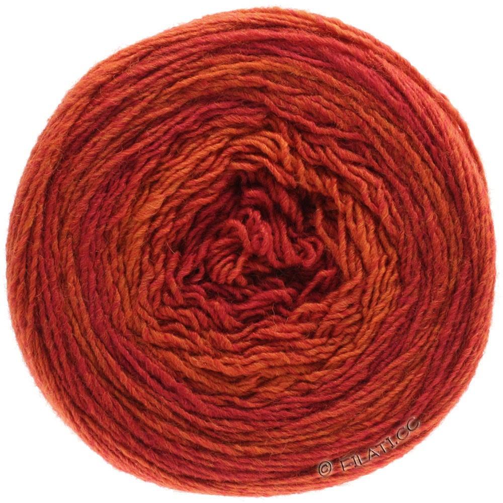Lana Grossa GOMITOLO 200 Degradé | 305-rød/orange