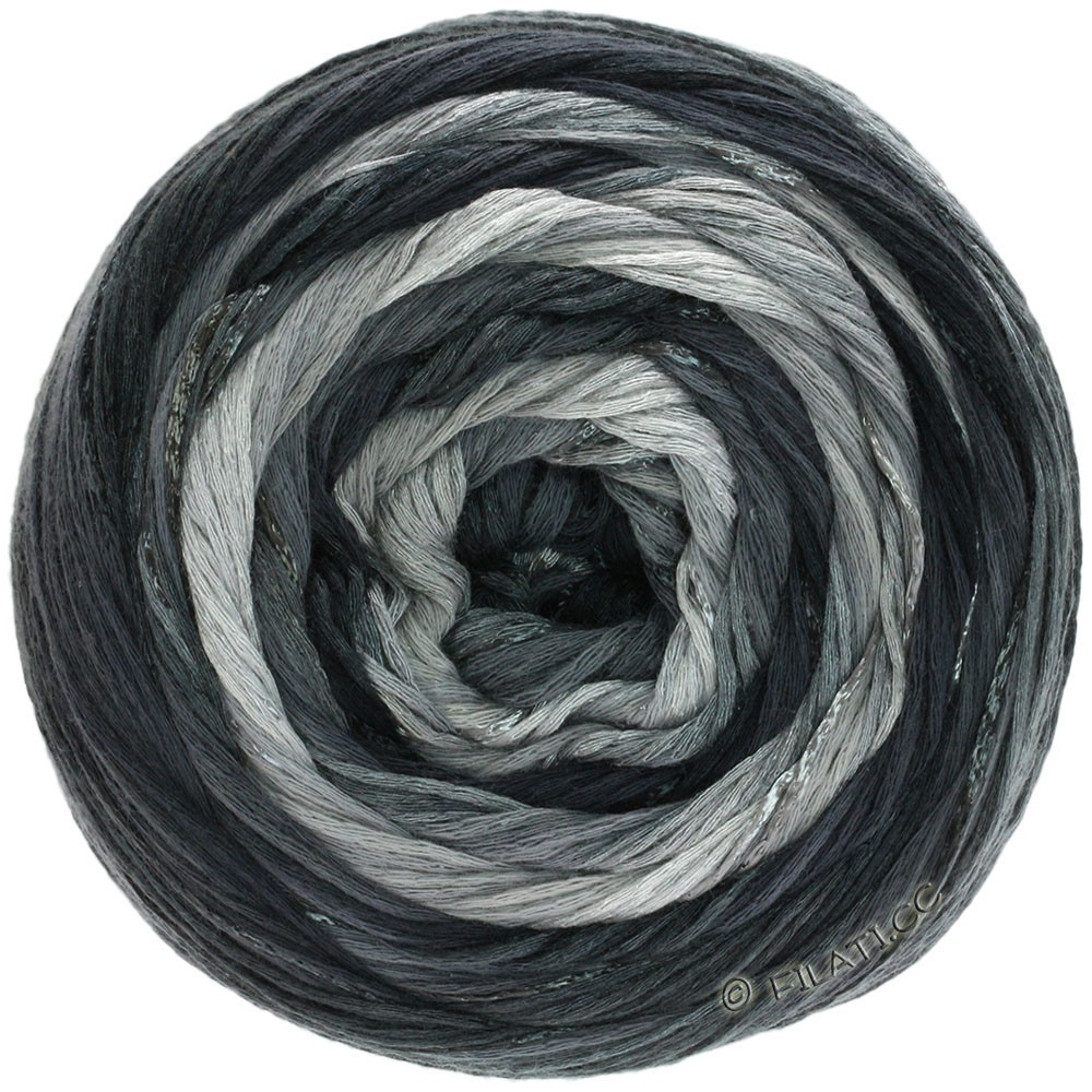 Lana Grossa GOMITOLO ESTATE | 310-lysegrå/mørkegrå/sort/natur