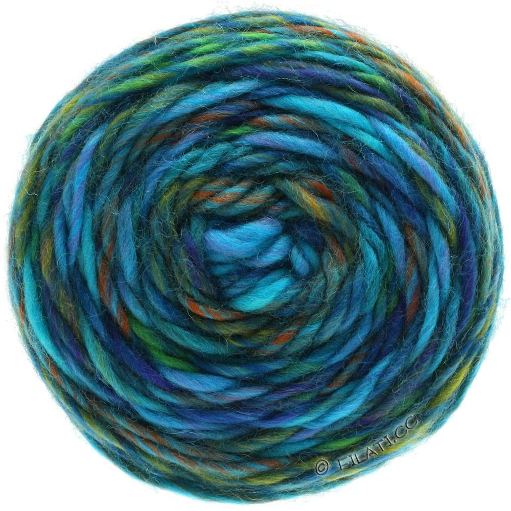 Lana Grossa GOMITOLO Merino | 08-lilla/blå violet/jade/kobber