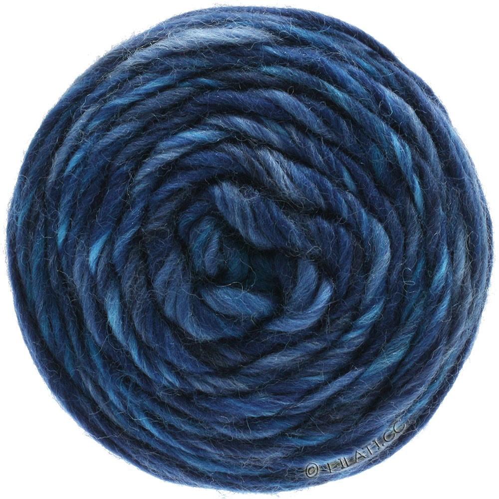 Lana Grossa GOMITOLO Merino | 09-lyseblå/jeans/mørkeblå