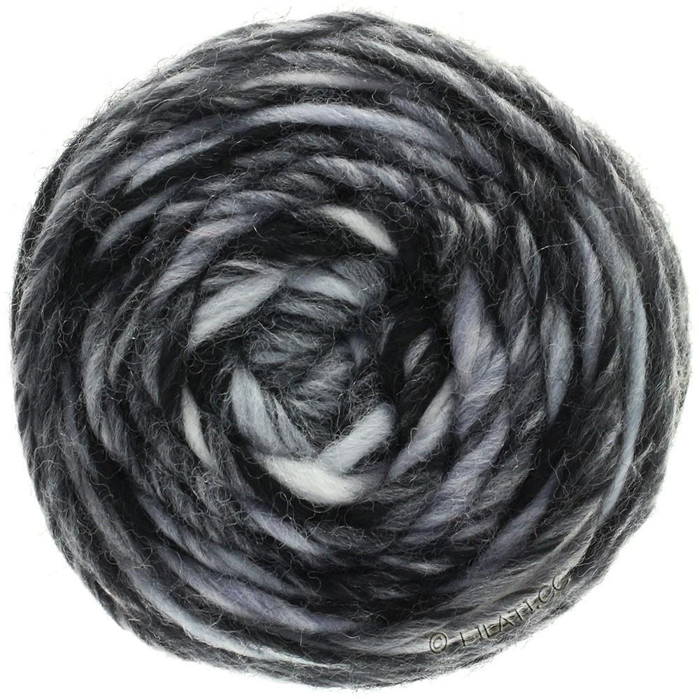 Lana Grossa GOMITOLO Merino | 11-hvid/lysegrå/mørkegrå/sort