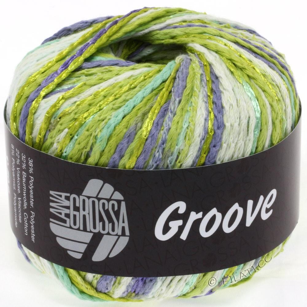 Lana Grossa GROOVE   07-limegrøn/gulgrøn/natur/purpur